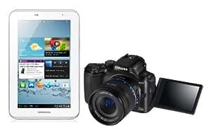 Samsung NX20 Digital Wi-Fi Compact System Camera - Black (20.3MP, 18-55mm Lens Kit) 3 inch AMOLED and Samsung 7.0 Galaxy Tab 2 - (White) (8GB, Wi-Fi, Android 4.0) Bundle Kit