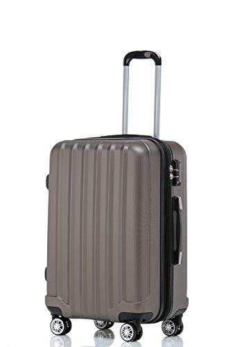 TSA-Schloß 2080 Hangepäck Zwillingsrollen neu Reisekoffer Koffer Trolley Hartschale XL-L-M(Boardcase) in 12 Farben (Coffee, M)