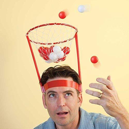 Bits and Pieces Hilarious Basket Kopf tragbarer Basketballkorb Mini Basketballkorb für Haus oder Büro