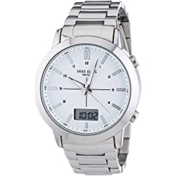 Mike Ellis New York Men's Wristwatch XL Analog - Quartz Digital Stainless Steel SL4-60220A