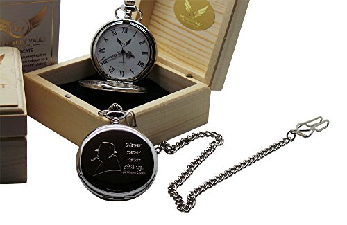 sir-winston-churchill-silver-pocket-watch-quote-never-give-up-luxury-gift-in-case-wooden-box