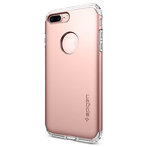 Coque iPhone 8 Plus, Spigen® Coque iPhone 7 Plus / 8 Plus [Hybrid Armor] AIR CUSHION [Jet White] Clear TPU / PC Frame Slim Dual Layer Premium Case for iPhone 7 Plus / 8 Plus - (043CS21046) HA Or Rose