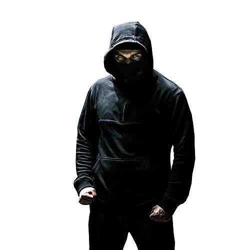 Ninja Kapuzenpullover (PG Wear Ninja Hoodie Front Line inkl. Sturmhaube in schwarz von)