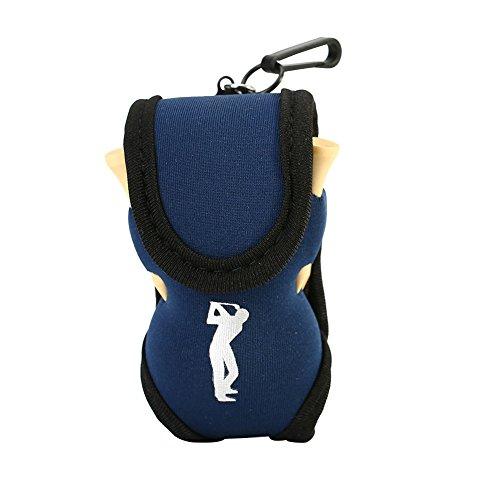 Alomejor Golfballhalter Gebrauchsstoff Taille Beutel mit 2 Golfbälle+4 Golf Tees Sport Golf Zubehör(Blau) (Sport-golf-bälle)