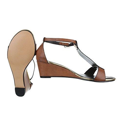 Ital-Design, Sandali donna Marrone