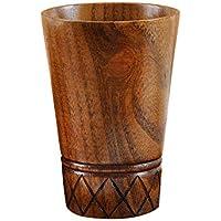 Igemy Neue Holz Tasse Log Farbe Handgefertigte Naturholz Kaffee Tee Bier Saft Milch Becher (Khaki) preisvergleich bei billige-tabletten.eu
