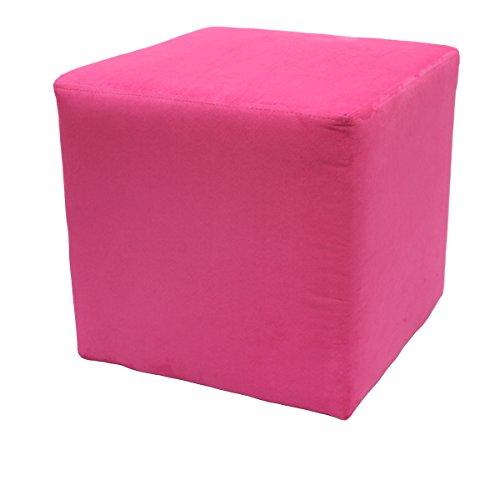 Möbelbär 8005 Sitzwürfel Hocker Sitzbank Cube mit Kunststoffgleiter ca. 45 x 45 x 45 cm, bezogen mit Alcantara Imitat Velour Wildleder...