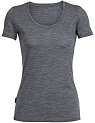 Icebreaker Tech Lite Scoop_102143 T-Shirt Manches Courtes Femme, Gritstone Heather, FR : M (Taille Fabricant : M)