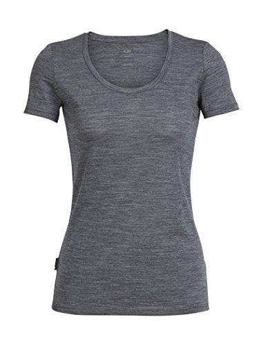 Icebreaker Tech Lite Scoop_102143 T-Shirt Femme, Gritstone Heather, FR : M (Taille Fabricant : M)