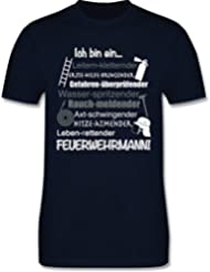 Feuerwehr - Ich bin ein ... Feuerwehrmann! - Premium Kurzarm T-Shirt für Herren