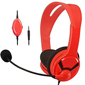 Amazon Basics – Gaming-Headset – Kompatibel mit Nintendo Switch, Xbox One, PlayStation 4 und PC, Rot