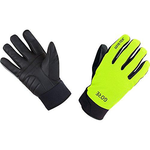 GORE Wear Wasserdichte Herren Fahrrad-Handschuhe, C5 GORE-TEX Thermo Gloves, Größe: 9, Farbe: Neon-Gelb/Schwarz, 100401