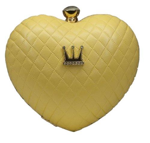 Dada Heartbreaker Clutch , Farbe:gelb