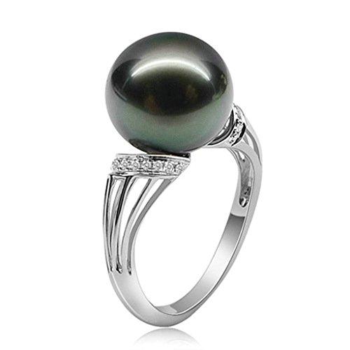 Daesar Silberring Damen Ring Silber Ehering für Damen Verlobungsring Benutzerdefinierte Ring Perle Ring Strass Ring Größe:62 (19.7)