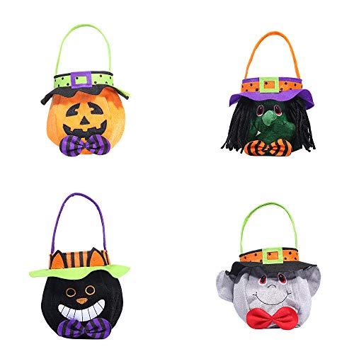 Kostüm High Ever Halloween After - BlackStree Halloween-Dekorationen mit Mütze Runde Einkaufstasche Geist Festival Kinder Süßigkeiten Geschenktasche 25CM kostüm