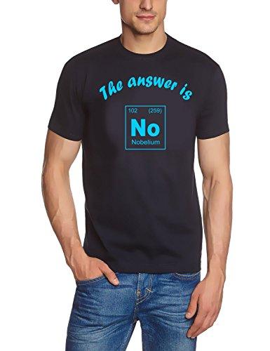 Preisvergleich Produktbild The answer is No - Nobelium - T-Shirt Chemische Elemente - Periodensystem der Elemente! navy-sky Gr.L