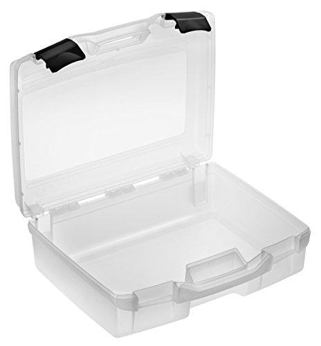 Kunststoffkoffer leer in transparent, Außenmaß: 370x307x121 mm
