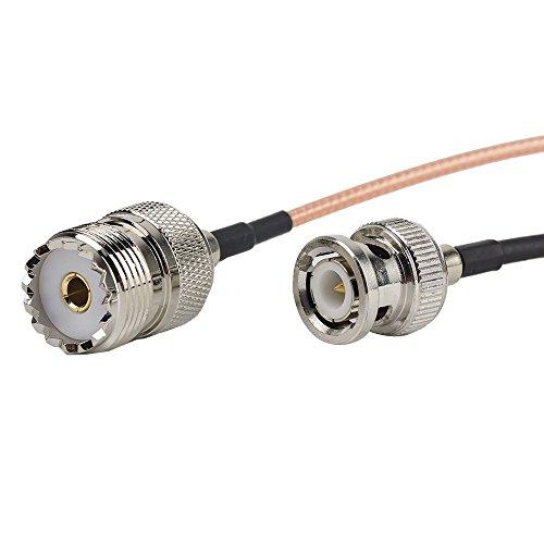 2pcs 6inch / 15cm / 0.5ft RF koaxiale Koaxialkabel-Adapter-Versammlung - BNC Mann zum UHF weiblichen Verbindungsst¨¹ck, HF UHF VHF Radio koaxiales Antennen-Kabel