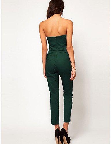 GSP-Combinaisons Aux femmes Sans Manches Sexy/Moulant/Décontracté/Mignon/Grandes Tailles Mousseline de soie Fin Non Elastique green-m
