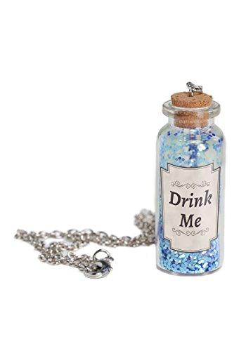 Fun Costumes Alice-Trank-Flaschen-Halskette - ST (Trank-flaschen)