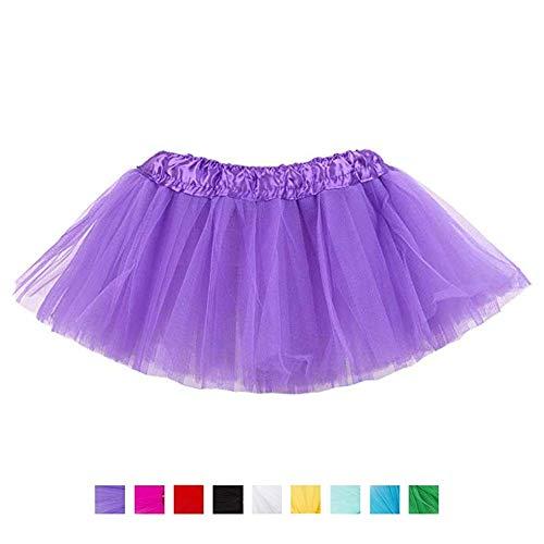 r Kinder, Mädchen, klassisch, 5-lagig, Tüll, Tutu, Rock für Partys, Halloween, Partys, Kostüme (lila) ()