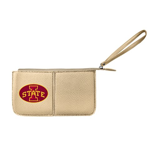 Littlearth Damen NCAA Iowa State Cyclones Pebble Wristlet, Gold, 20,3 x 10,2 x 2,5 cm -