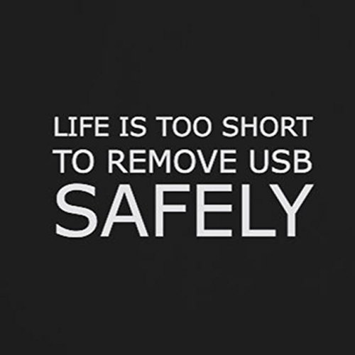 Life is too short to remove USB safely - Stofftasche / Beutel Hellgrün
