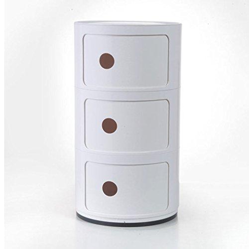 BBYE Type De Tiroir Cabinet De Rangement / Casiers Pour Enfants Snack / Boîte De Jouets Bébé / Cabinet De Finition Des Vêtements / Cabinet De Lit En Plastique ( couleur : Blanc )