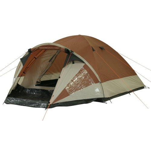10T Camping-Zelt Colville 4 Kuppelzelt mit Schlafkabine für 4 Personen Outdoor Familienzelt mit Vorraum, Dauerbelüftung, Bodenplane, wasserdicht mit 3000mm Wassersäule