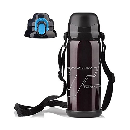 Anddod 800ml Stainless Steel Double Cover Thermal Insulation Kettle Vacuum Thermos Flask Travel Mug - Coffee -