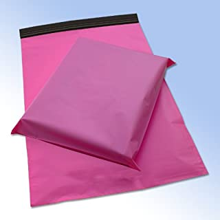 100 Pink Plastic Mailing Mail Post Postage Bags 10 x 14