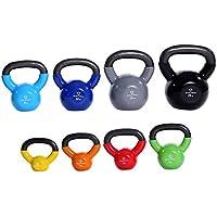 80kg KettleBell-Set »Kolossos« pesa esférica 2 - 20 kg / Pesa de mano de 100 % hierro con superficie de vinilo / Calidad de gimnasio para un alto rendimiento 2kg, 3kg, 4kg, 6kg, 8kg, 10kg, 12kg, 15kg und 20kg / Set de todos colores
