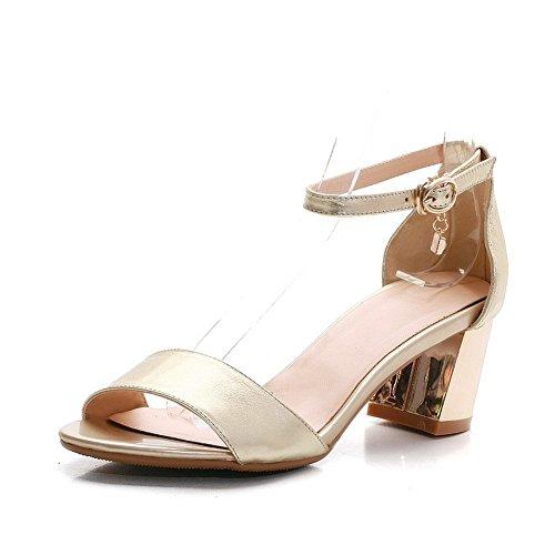 Adee Mesdames strass Sandales en cuir robuste Or - doré