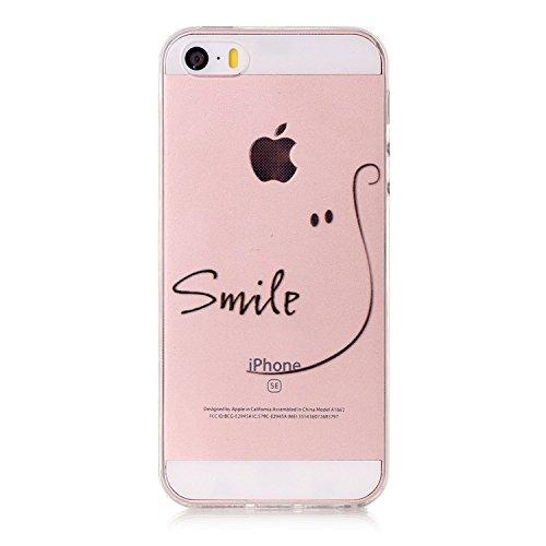 iPhone SE Hülle,iPhone 5S Hülle TPU Case Schutzhülle Silikon Case,3D Kreative Ultra Slim Soft...