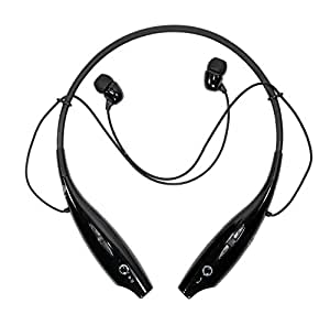 jakkasdeal Bluetooth Stereo Headset Wireless Bluetooth Mobile Phone Headphone Earpod Sport Earphone with call functions (Black) for All Mobile,music player,etc that supports Bluetooth Headsets