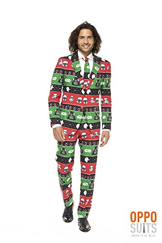 Opposuits Official STAR WARSTM Suit - Festive Force Costume Comes With Pants, Jacket and Tie, Festive ForceTM, 54