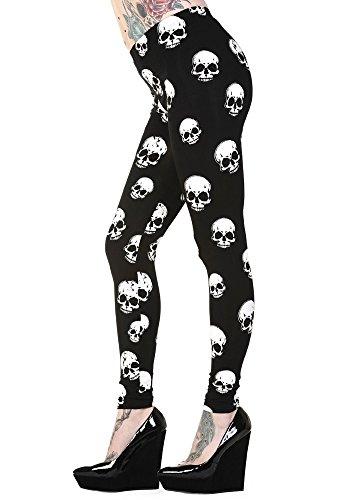Banned Leggings Skulls - Girlie, Schwarz