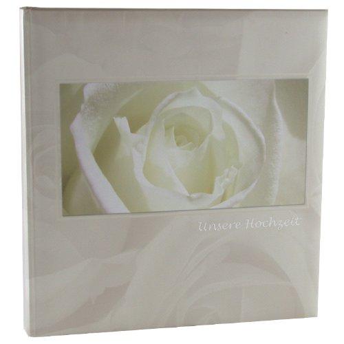 Amorio Buchalbum weiß, 30x31cm, 60 weiße Seiten incl. 4 Seiten