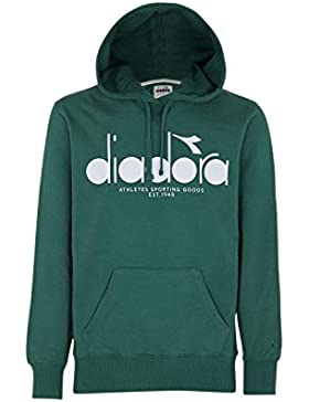 Diadora, Uomo, Hooded Sweat BL, Cotone, Felpe, Blu