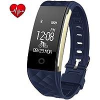 EFOSHM Fitness Armband mit Pulsmesser Wasserdicht IP67 Fitness Tracker Watch Aktivitätstracker Schrittzähler Uhr mit Schlafmonitor Kalorienzähler,Vibrationsalarm Anruf SMS Whatsapp für Android iOS