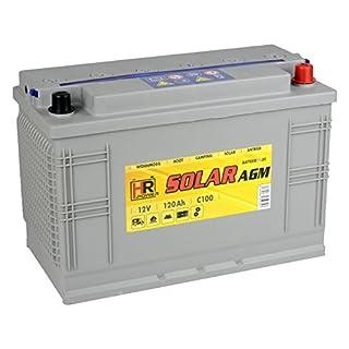 HR Solar AGM | 12V 120Ah Versorgungsbatterie als Wohnmobilbatterie Bootsbatterie Solarbatterie Wohnwagenbatterie VRLA Vliesbatterie