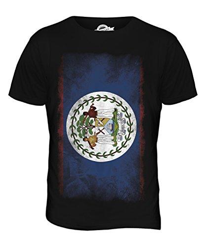 CandyMix Belize Verblichen Flagge Herren T Shirt Schwarz