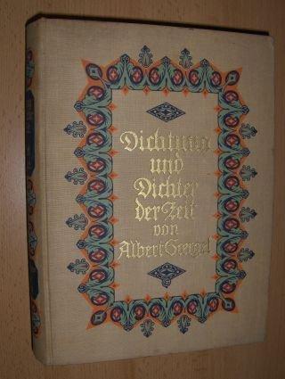 DICHTUNG und DICHTER der ZEIT (Biographisch-bibliographisches zur deutschen literaturgeschichte d....