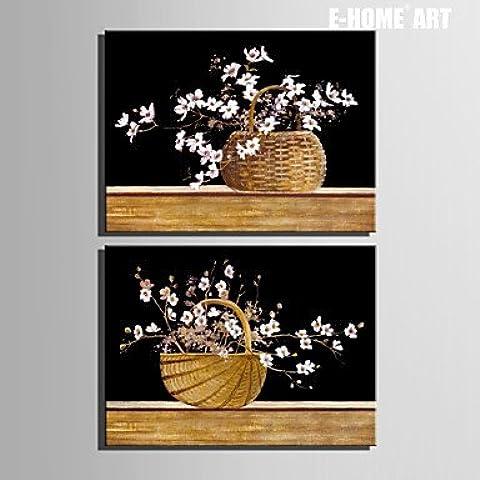 Generic lona tensada la canasta de flores el arte de la pintura de decoración Set de 2 14