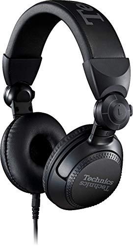 Technics EAH-DJ1200 DJ Kopfhörer (On Ear, Schwenkarm, abnehmbares Spiralkabel, High End Stereo) schwarz