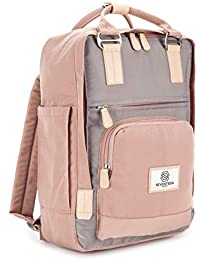 """SEVENTEEN LONDON – Modern Urban Unisex 'Hackney' Backpack in a Classic Slim Simple Design – Fits Laptop up to 13"""""""