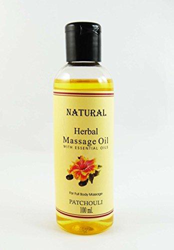 Huile de Massage Patchouli Natural Herbal Avec huile essentielle pour 100 ml Full Body