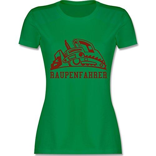Andere Fahrzeuge - Raupenfahrzeug - tailliertes Premium T-Shirt mit Rundhalsausschnitt für Damen Grün