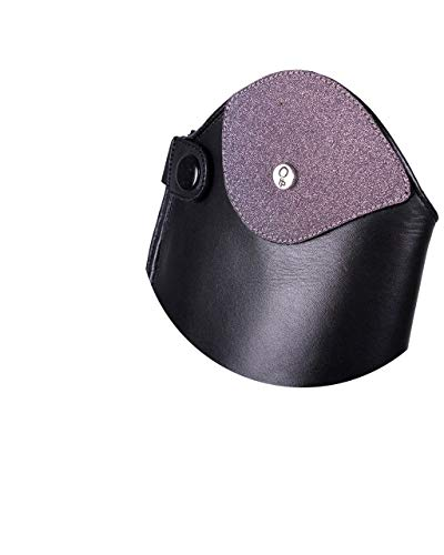 QHP austauschbarer Dressurbogen/Schaftoberteil für Reitstiefel Romy Leder mit Klettverschluss Verschiedene Designs (35-37, Glitter Rosa)