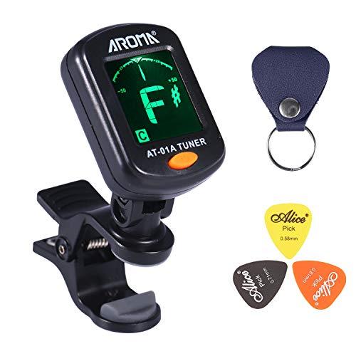 Asmuse™ Afinador guitarra Guitar Tuner Sintonizador de Cromático Para Guitarra Bajo Eléctrica Violín Ukulele Modos 360°LCD Pantalla-AST01